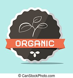 Organic Retro Vector Label