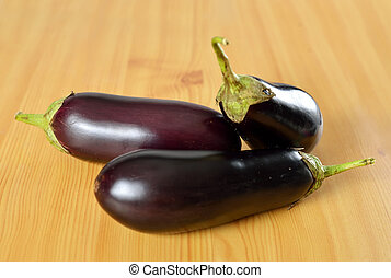 Organic ripe purple eggplant