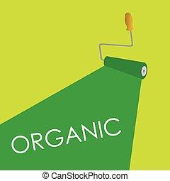 organic roller green vector