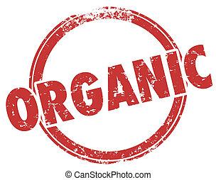 Organic Round Red Stamp Hormone Pesticide Free Food...