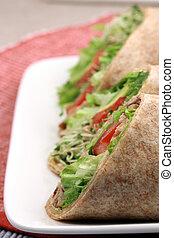 organic sandwich wraps - fresh sandwich wrap made with...