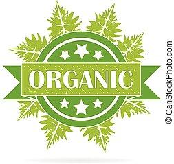 Organic seal ecology product logo