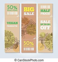 Organic shop banners
