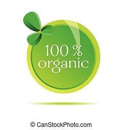 organic sign vector illustration