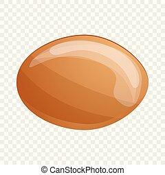 Organic soy bean icon, cartoon style