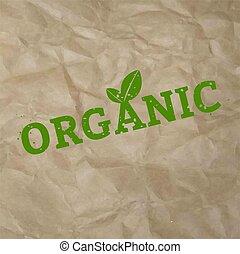 Organic Stamp Sign Cardboard Background