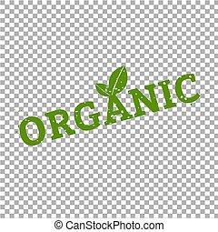 Organic Stamp Sign Transparent Background