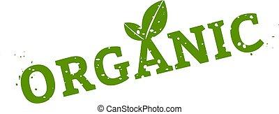 Organic Stamp Sign White Background