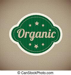 organic stickers over vintage background vector illustration