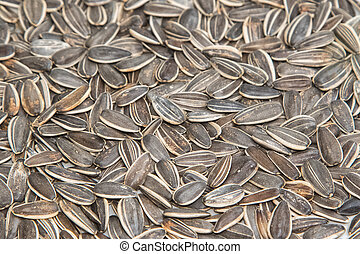 organic sunflower seed for background