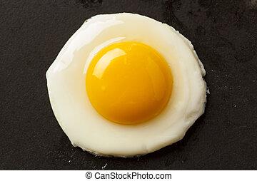Organic Sunnyside up Egg ready for breakfast