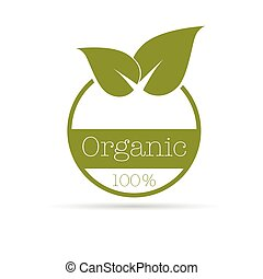organic symbol vector illustration in green color