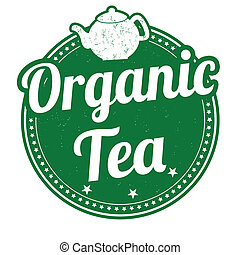 Organic tea stamp