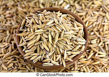 Organic unhusked rice with Chaff - Organic unhusked rough...