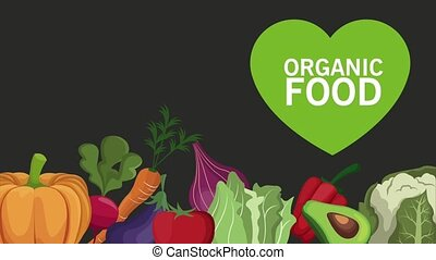 organic vegetables concept HD animation