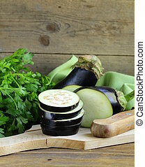 organic vegetables eggplant