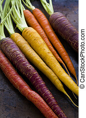 Organic Vegetables - Organic rainbow carrots from the local ...