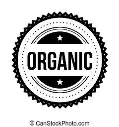 Organic vintage stamp vector