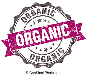 Organic violet grunge retro style isolated seal
