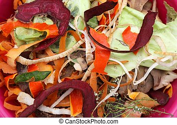 Organic waste for composting