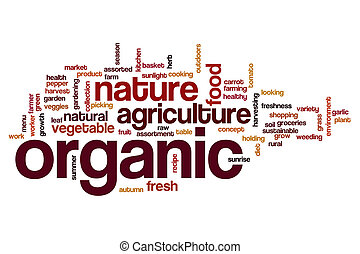 Organic word cloud concept