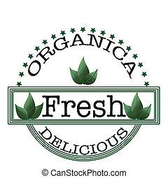 organica delicious fresh stamp