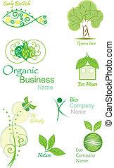 organic&bio, ベクトル, コレクション