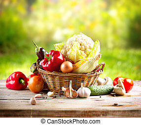 organický, zelenina