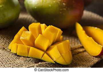 organico, colorito, maturo, manghi