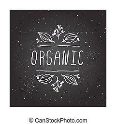 organico, -, etichetta prodotto, su, chalkboard.