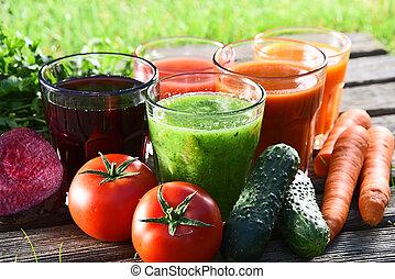 organico, giardino, succhi, fresco, detox, occhiali