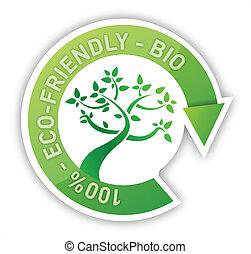 organico, segno, albero, ciclo