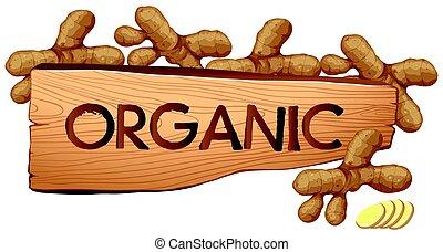 organico, segno, con, fresco, gingers