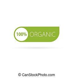 organico, segno, verde, vettore