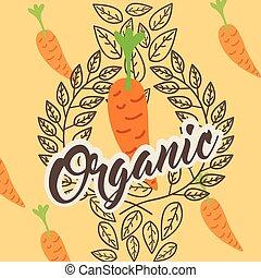 organiczny, warzywa, kasownik