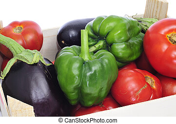 organiczny, warzywa, paka