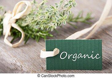 organiczny, zielony, etykieta