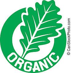 organiczny, znak