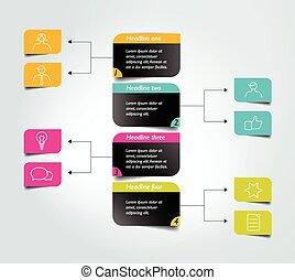 organigramme, diagramme, scheme., infographic, element.