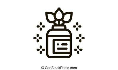 organique, animation, fiole, icône, médecine