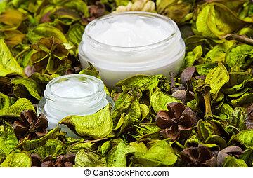 organique, peau, produits, soin