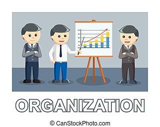 organisation, drei, text, stil, foto, geschäftsmann