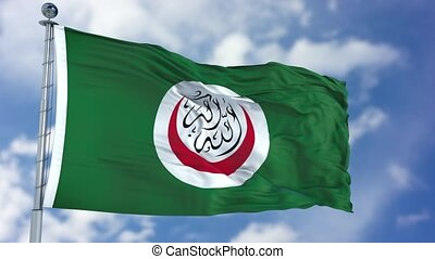 Organisation of Islamic Cooperation Waving Flag -...