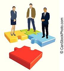 organisation, puzzle, puzzle