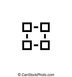 Organisation Structure Flat Vector Icon
