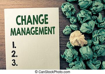 organisation, texte, projection, signe, direction, management., policies, photo, conceptuel, nouveau, changement, remplacement