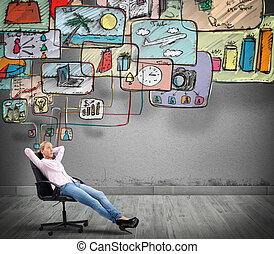 organisation, vie, penser