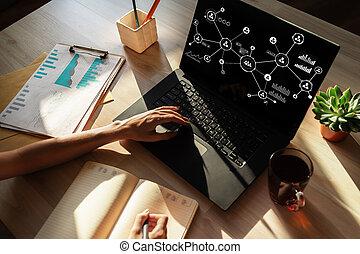 organisational, 구조, 사업, 모델, hr, 인간, 자원, management., 친목회, network.