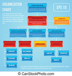 organisational, mapa, infographic