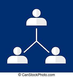 organisational, tabel, bedrijf hierarchy
